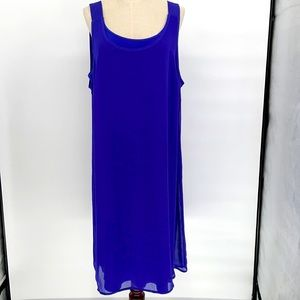 Traditions bright blue maxi long dress with slip